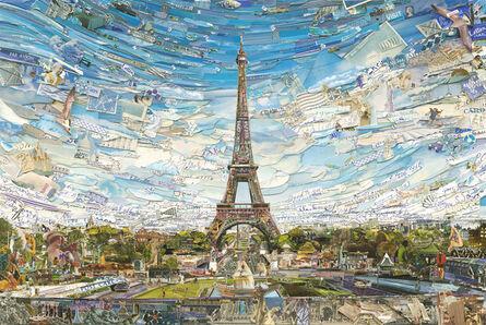 Vik Muniz, 'Postcards from Nowhere: Eiffel Tower', 2015
