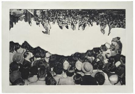 John Baldessari, 'Crowds with Shape of Reason Missing Example 2', 2012