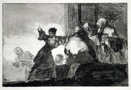 Francisco de Goya, 'Two Heads Are Better Than One: Proof Impression', ca. 1812