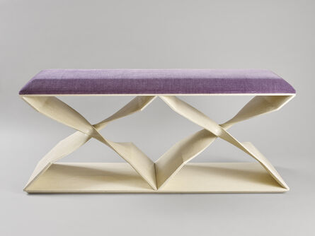 Carol Egan, 'Hand-Carved Cerused Oak 'Sculptural Twist' Two-Seater Bench ', 2013