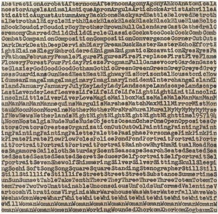 Carl Andre, 'de Kooning Gorky Pollack', 1962