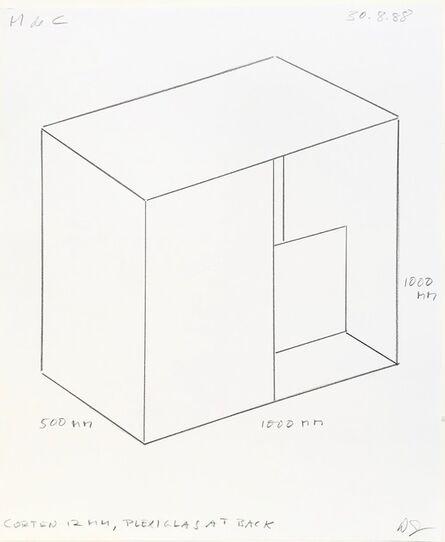 Donald Judd, 'Untitled (30.3.88) ', 1988