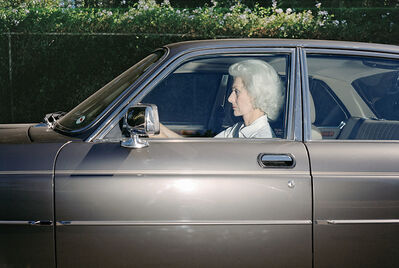Andrew Bush, 'Woman caught in traffic while heading southwest on U.S. Route 101 near the Topanga Canyon Boulevard exit, Woodland Hills, California, at 5:30 p.m. in the summer of 1989', 1989