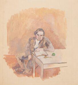 Bernard Karfiol, 'Man Reading', circa 1925