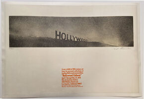 Ed Ruscha, 'Hollywood Collects, Otis Art Institute Gallery, April 7 through May 15, 1970', 1970