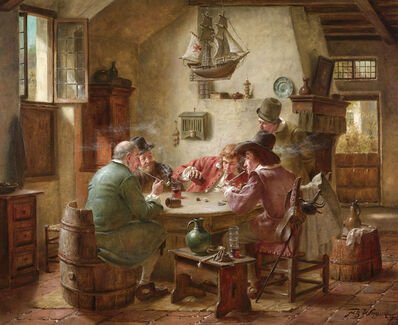 Fritz Wagner, 'Playing Dice', 20th century