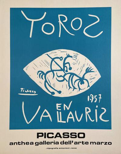 Pablo Picasso, 'Toros en Vallauris, 1957 Picasso , Anthea Galleria dell'arte Marzo', 1972