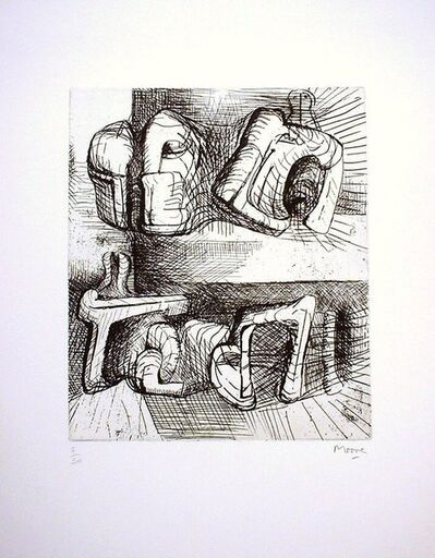 Henry Moore, 'Two Reclining Figures', 1972