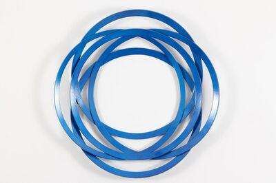 Shayne Dark, 'Erratic Colour Candy Blue - circles, steel, geometric abstract, wall sculpture', 2014