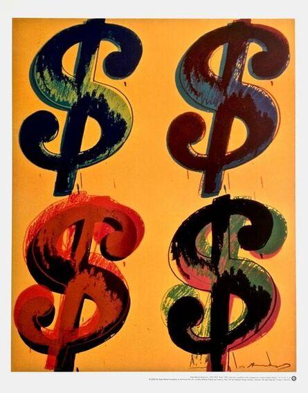 Andy Warhol, 'Dollar Sign (Quad)', 2000