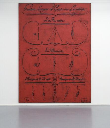 Matt Mullican, 'Untitled (Diderot, Hauteur, Largeur et Lente des Ecritures, Diptych)', 2012