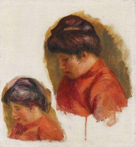 Pierre-Auguste Renoir, 'Double étude pour le tableau : Gabrielle en rouge', ca. 1903-1905