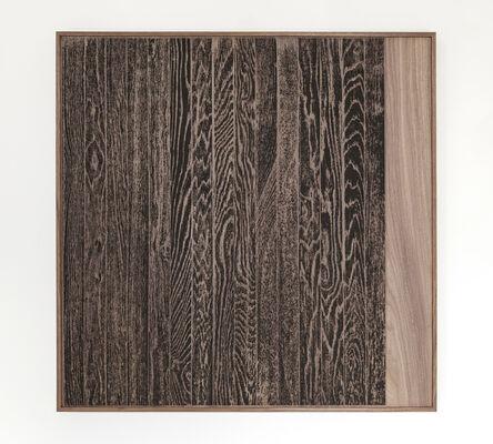 Analía Saban, ' Wooden Floor on Wood (Vertical)', 2017