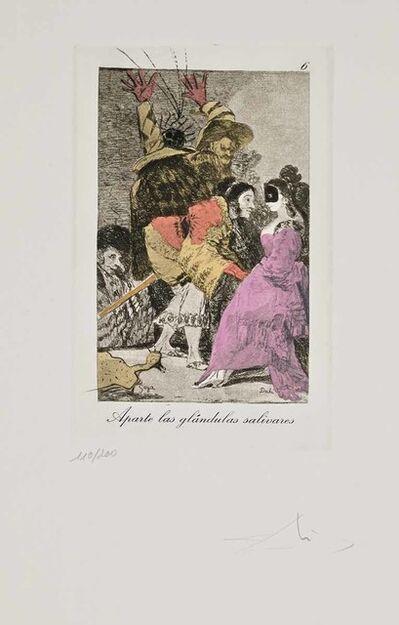 Salvador Dalí, 'Aparte las glandulas salivares (Les Caprices de Goya de Dalí, #6)', 1977