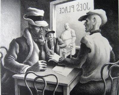 """Thomas Hart Benton, '""""Discussion""""', 1969"""