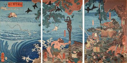 Utagawa Kuniyoshi, 'Minamoto no Tametomo', ca. 1850