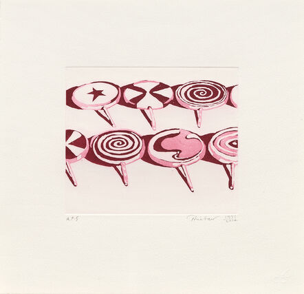 Wayne Thiebaud, 'Little Red Suckers', 1971-2014