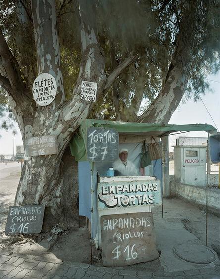 Jim Dow, 'Stand Selling Empanadas, Rte. 6, Montevideo, Department of Montevideo, Uruguay', 2010