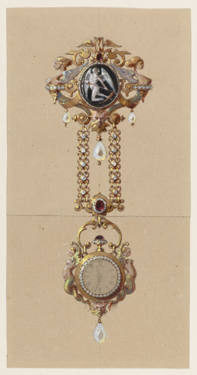 Alexis Falize, 'Design for a Chatelaine with Watch', ca. 1875
