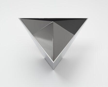Meg Webster, 'Model for Polished Tetrahedron for Sometimes Containing Water, Sometimes Containing Rain', 2013