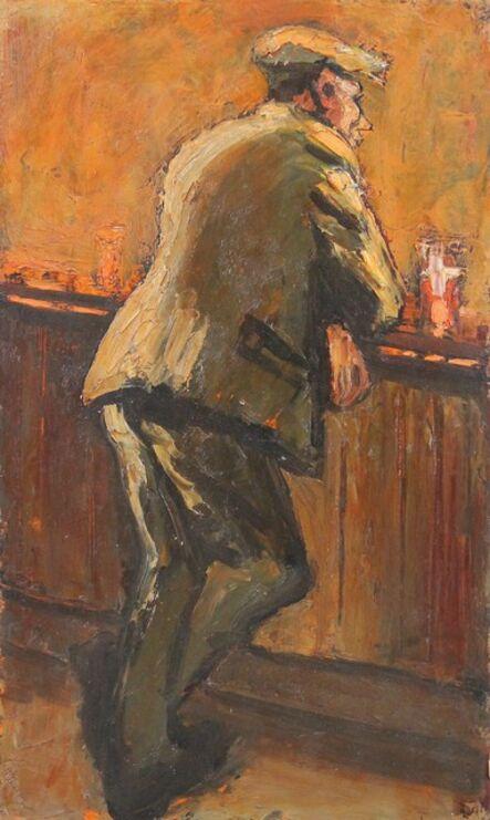 Norman Cornish, 'Man alone at bar'