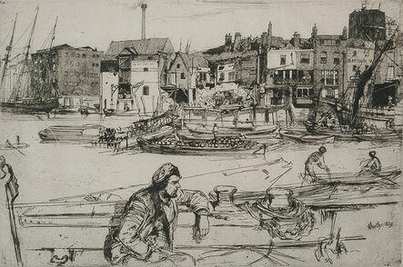 James Abbott McNeill Whistler, 'Black Lion Wharf', 1859