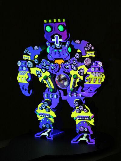 Peter Sarkisian, 'VideoMorphic Figure (Robot 1 v 2)', 2013