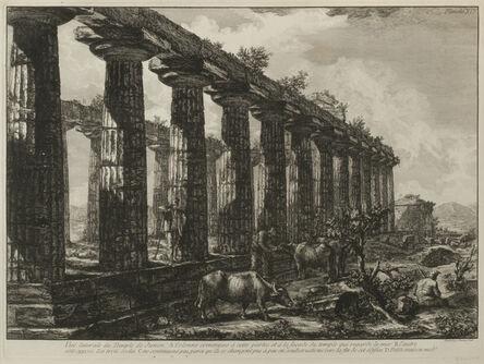 Francesco Piranesi, 'Vue laterale du Temple de Junon… (Side view of the Temple of Juno…)', 1778