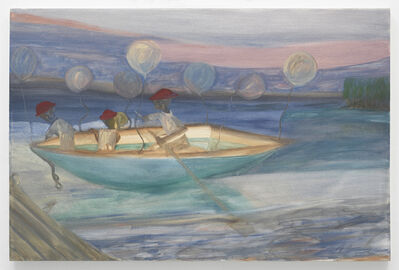 Ficre Ghebreyesus, 'Red Hats and Balloons', c. 2002-07