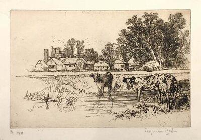 Francis Seymour Haden, 'Cowdray Castle (with cows)', 1882