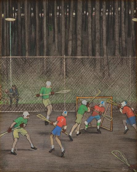 William Kurelek, 'Lacrosse', 1977