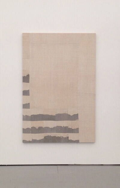Ayan Farah, 'Indian ink and sea salt on linen', 2013