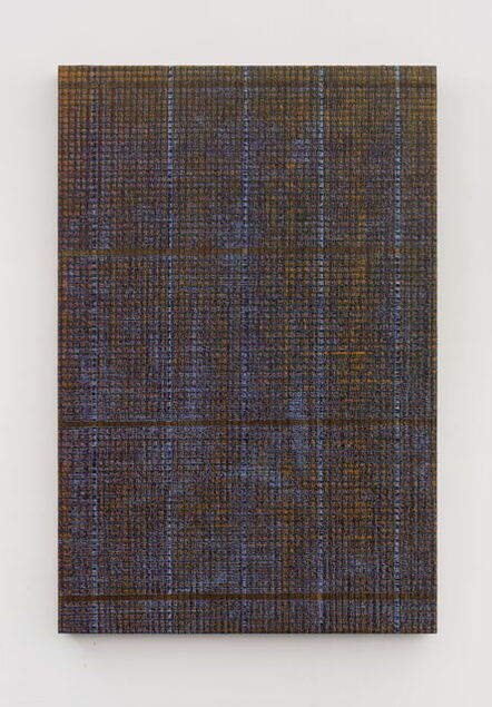 Chi Qun 迟群, 'Five Lines - Gold and Purple', 2018