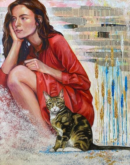 Tatyana Britkina, 'Eve and her Cat', 2020