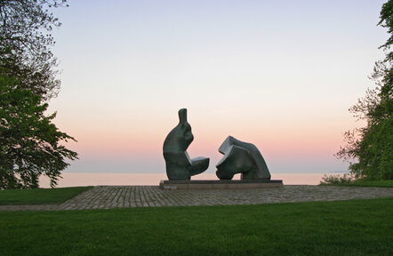 Henry Moore, 'Two Piece Reclining Figure No. 5', 1963-1964