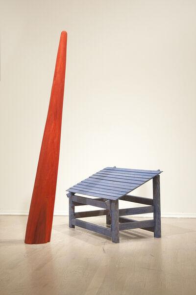 Colin Van Winkle, 'Blue House & Red Moon Beam', 2015
