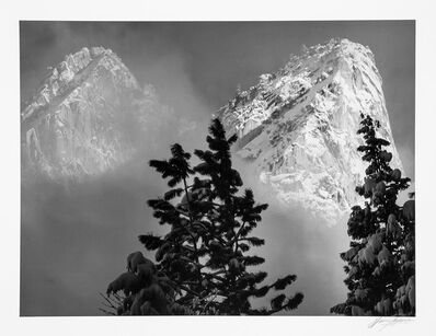 Ansel Adams, 'Eagle Peak and Middle Brother, Winter, Yosemite National Park, California', 1968