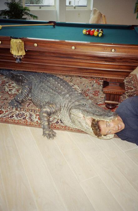 Juergen Teller, 'Arnold in alligator head, Los Angeles', 2000