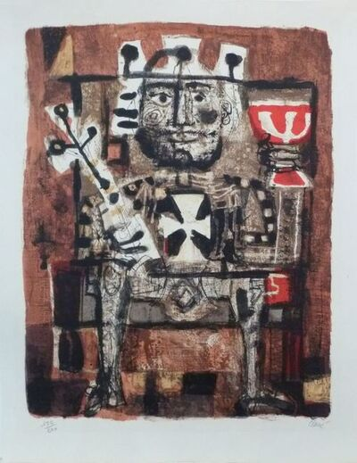 Antoni Clavé, 'The king is drinking ', 1954