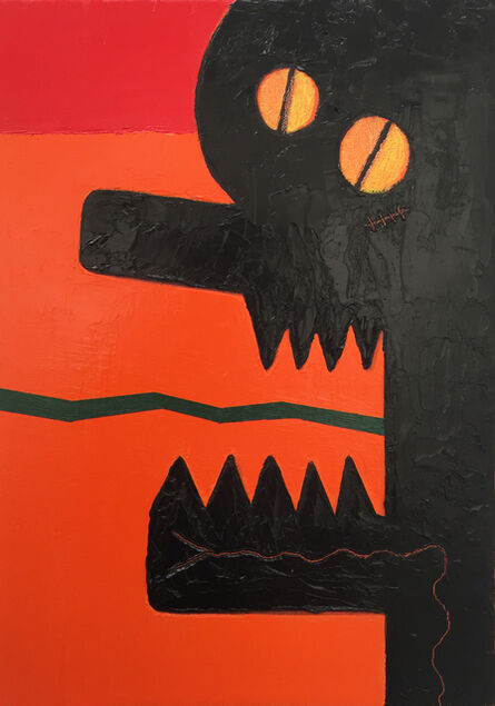 Alex Gene Morrison, 'Orange Red Snake Tongue Tattoo (Jaw)', 2018