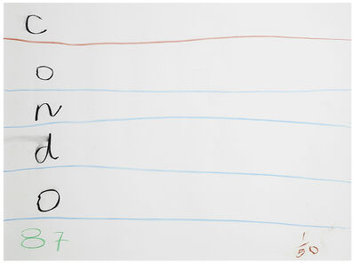 George Condo, 'UNTITLED', 1987