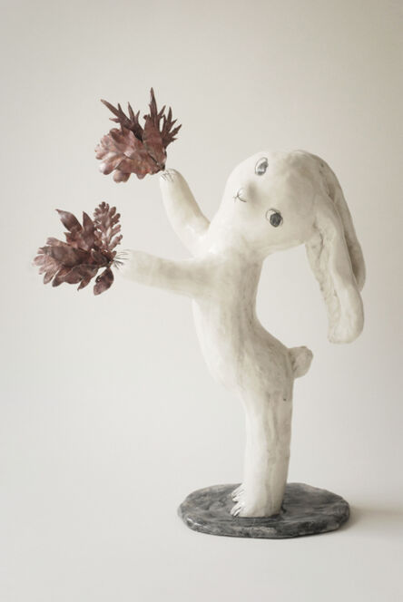Clémentine de Chabaneix, 'Rabbit with leaves', 2019