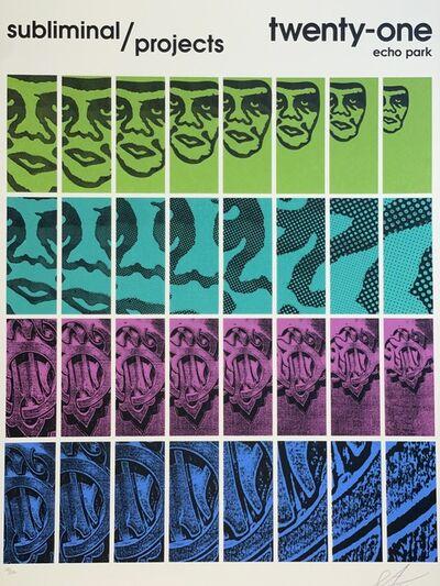 Shepard Fairey, 'Shepard Fairey TWENTY-ONE Print Obey Giant Studio Number One Echo Park Urban Art', 2017