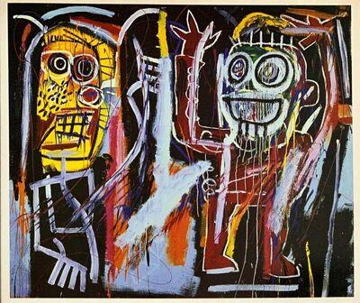 Jean-Michel Basquiat, 'Basquiat at Tony Shafrazi gallery 1996 (Basquiat Dust Heads announcement) ', 1996