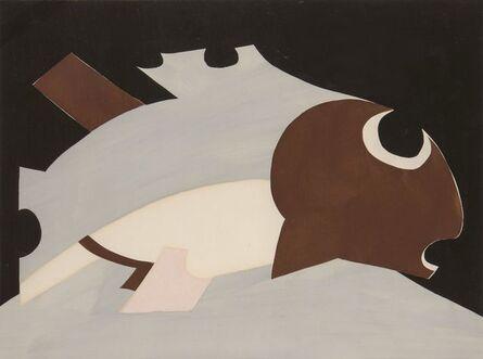 Natalia Goncharova, 'Untitled composition, Fish'