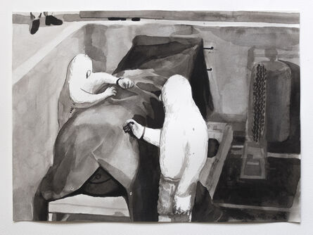 Gaku Tsutaja, 'The Canvas Shroud', 2018