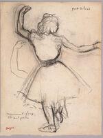 Edgar Degas, 'Danseuse vue de dos: Port de bras', 1875-1885