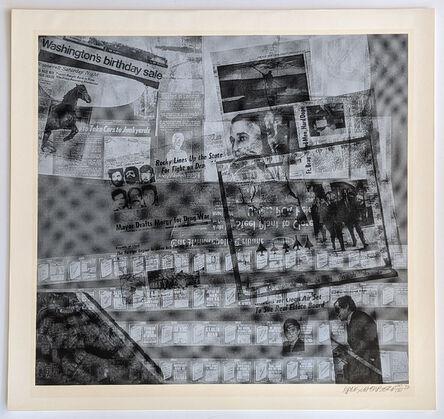 Robert Rauschenberg, 'Surface Series from Current #47', 1970