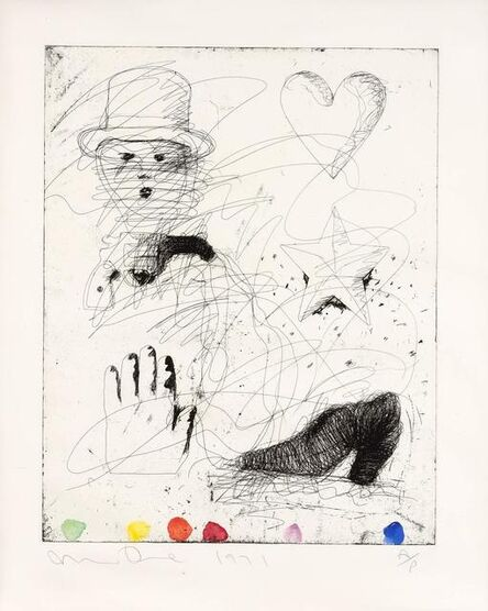 Jim Dine, 'The Realistic Poet Assassinated (Williams College 32)', 1970