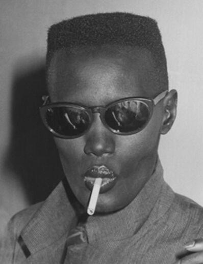"""Ron Galella, 'Grace Jones at Bond's for the """"Warm Leatherette"""" premiere party, New York', 1980"""
